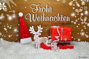 Weihnachten Karte Schnee